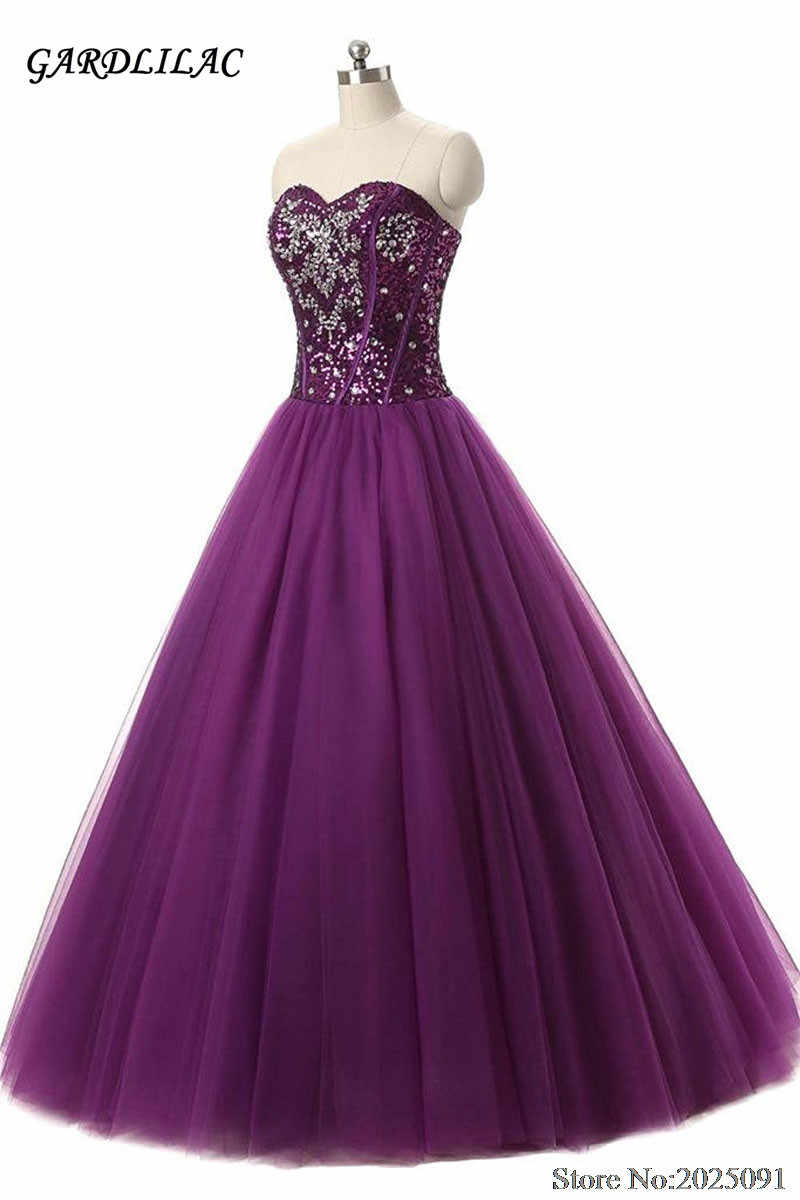 f0e8a0ed4b1 Detail Feedback Questions about New Sweetheart Purple Quinceanera Dresses  2019 Ball Gown Sequins Sweet 16 dresses Debutante Long Prom Dresses on ...