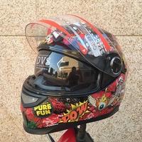 Best Sales Safe Flip Up Motorcycle Helmet With Inner Sun Visor Affordable Double Lens Decals Motorbike