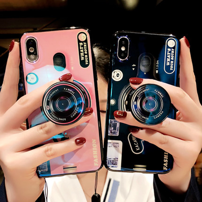 3D Retro Camera Soft Silicone TPU Case Cover for Samsung Galaxy S7 Edge S8 S9 Plus Note 8 9 A5 A8 2018 J2 J5 J6 J7 Prime 2017 EU