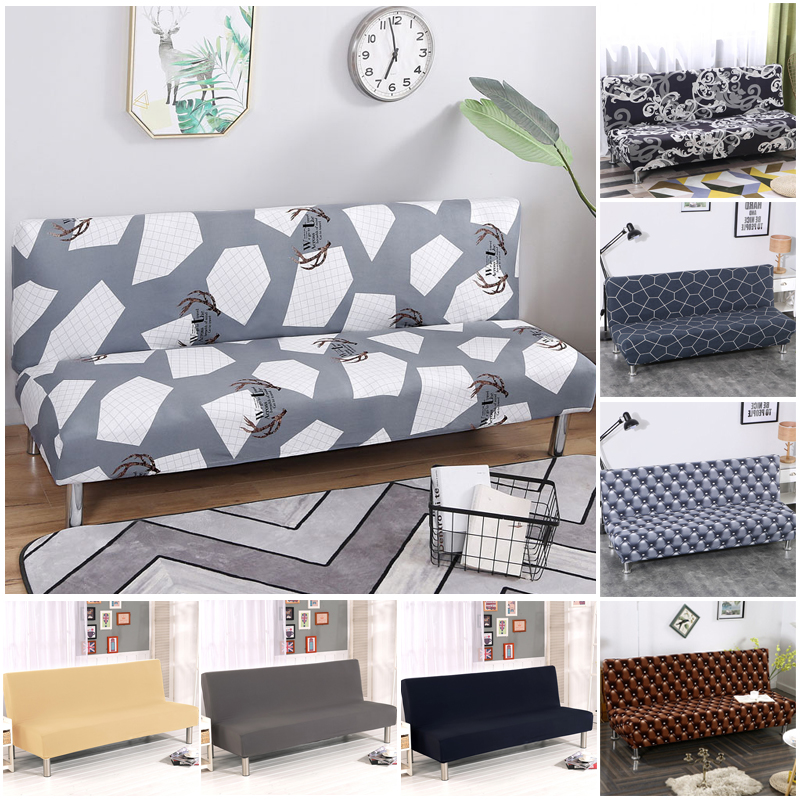 Geometric Stretch Without Armrest Folding Sofa Bed Cover All-Inclusive Couch Cover Slipcover Slip-resistant Sofa Protector Cover