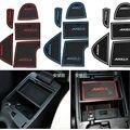 12 Pçs/set com Logotipo em adesivos de carro estilo do carro ranhura Portão esteira do copo do carro pad para Mazda 3 Axela 2013 2014 5 LHD Látex Anti antiderrapante