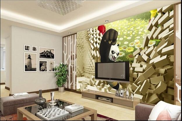 Benutzerdefinierte 3D wallpaper, Kung Fu Panda wandbilder für ...