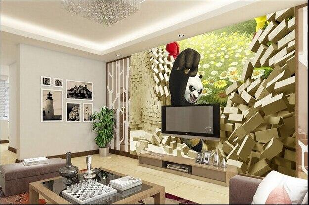 Custom 3D wallpaper, Kung Fu Panda murals for the children's room boys and girls bedroom background wall vinyl papel de parede соя kui fu 400g 3 1200
