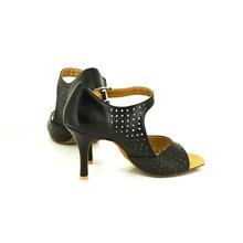 YOVE Dance Shoe Cow Split Women's Latin/ Salsa Dance Shoes 3.25″ Slim High Heel w123-5