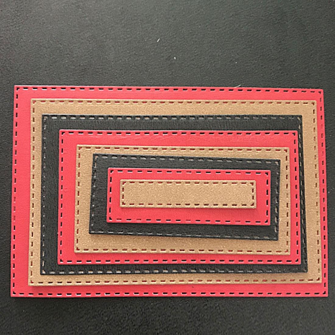 DIY 8 unids/set rectángulo cuadros cortar Dies Stencils para ...