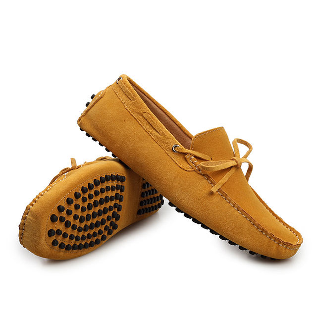 Size 3844 New Medical Hush Puppies Leather Boat Shoes Slips Shoes