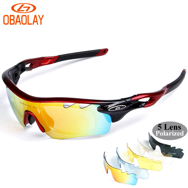 OBAOLAY Polarized font b Cycling b font Sunglass men 2017 Radar EV Pitch ciclismo occhiali MTB
