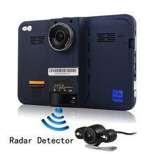 Otstrive 7 inch GPS Navigation Android GPS DVR 16G Radar Detector Rear View Dual Camera Allwinner A33 Quad Core WiFi Dash Camera