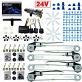 Car/Truck DC24V Universal 4 Doors Electronice Power Window kits With 8pcs Swithces & Harness  #CA2978