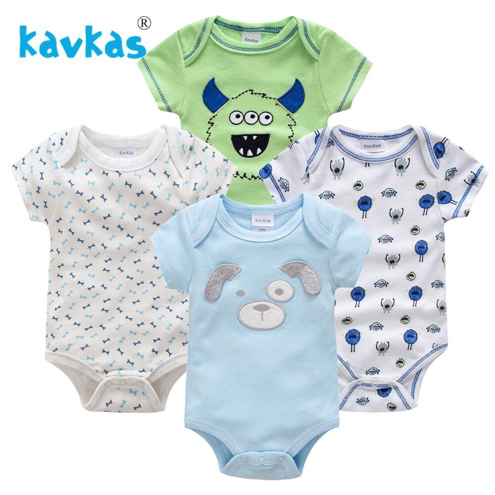 Kavkas/Пижама для младенцев 4 шт./компл. короткий рукав новорожденных Пижама для маленьких мальчиков/младенцев Одежда для маленьких мальчиков bossa nova - Цвет: HY21692171