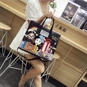 Image 4 - iPinee New 2020 Fashion Women Handbags Large Capacity Tote Bag Lady Embroidery Pu Leather Messenger bag Bolsos