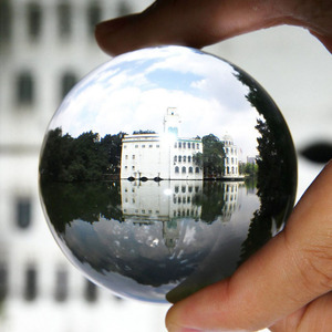 Image 5 - 60 80mm Glass Ball Lens Clear K9 Crystal Ball Healing Sphere Photography Trial Props Lens Ball Free Flannel Packaging Bag