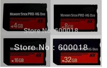 H2testw מלא במהירות גבוהה קיבולת אמיתית MS HX 4 GB 8 GB 16 GB 32 GB 64 GB Memory Stick Pro Duo זיכרון כרטיסי מתנה חינם פלסטיק תיבת