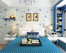 лучшая цена beibehang Environmental friendly children's room 3d wallpaper Mediterranean boy bedroom living room TV background wallpaper