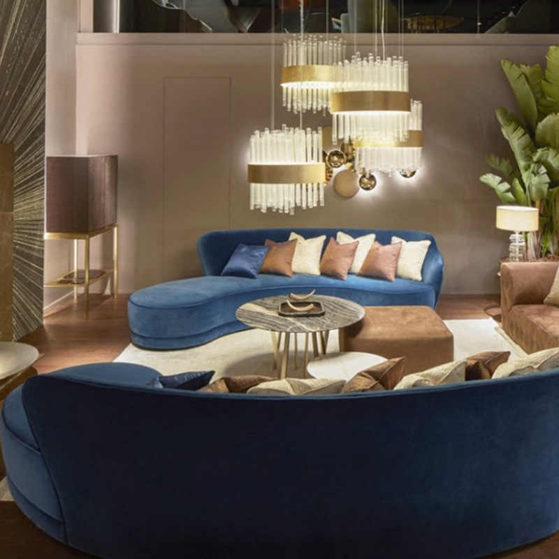 Awesome Nordic Light Luxury Blue Fabric Sofa Office Lobby Reception Curved Sofa Hotel Beauty Salon Sofa Download Free Architecture Designs Scobabritishbridgeorg
