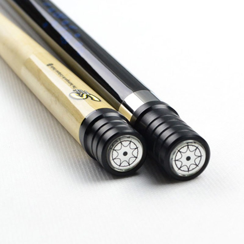 Купить с кэшбэком New Collapsar 2018  Billiard Pool Cue L05 Black with Blue Color Cue 58Inch 2PC Maple Stick Radial Pin 19oz 20oz Free ship