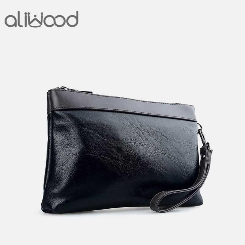 a100057c7f6e Бренд Aliwood, мужской кожаный клатч, кошелек, удобная сумка, сумки,  роскошные мужские