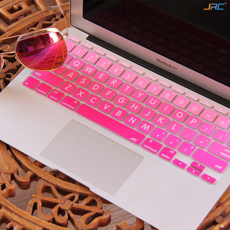 half off e0d3d 0f74e US $2.99 |Gradient Ombre Colors Big Word US Version Alabasta Keyboard Cover  Silicone Skin For Macbook Pro 13