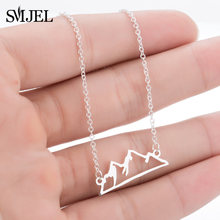SMJEL Minimalist Snowy Mountain Necklace Hiking Outdoor Mountain Range Colorado Pendants Necklaces Jewelry Climbing Gifts(China)