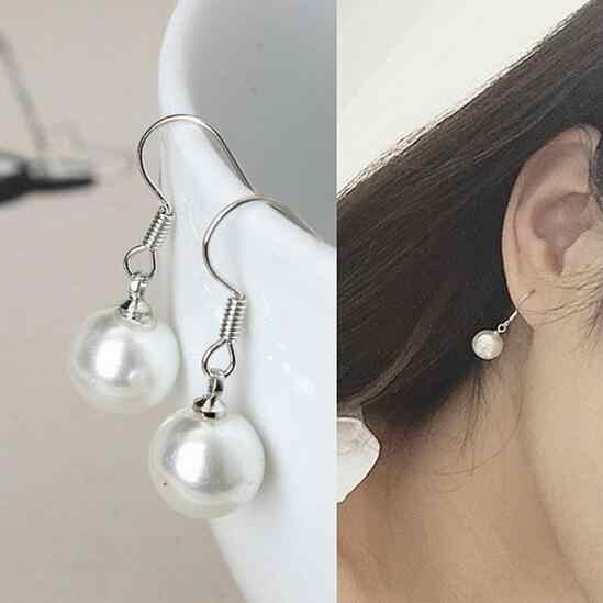 Ey176 exquisitos pendientes de perlas simuladas joyería de moda pendientes colgantes joyería femenina elegante 2018