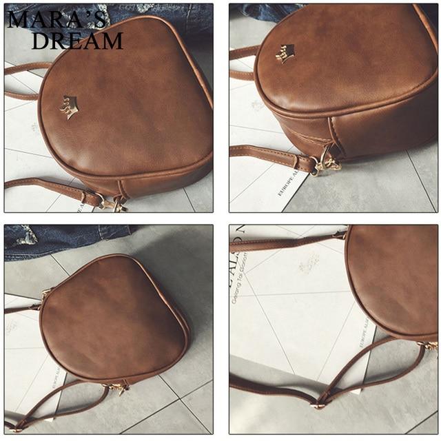 Mara's Dream 2018 Fashion Women Handbag Messenger Bags PU Leather Shoulder Bag Lady Crossbody Mini Bag Female Crown Evening Bags 5