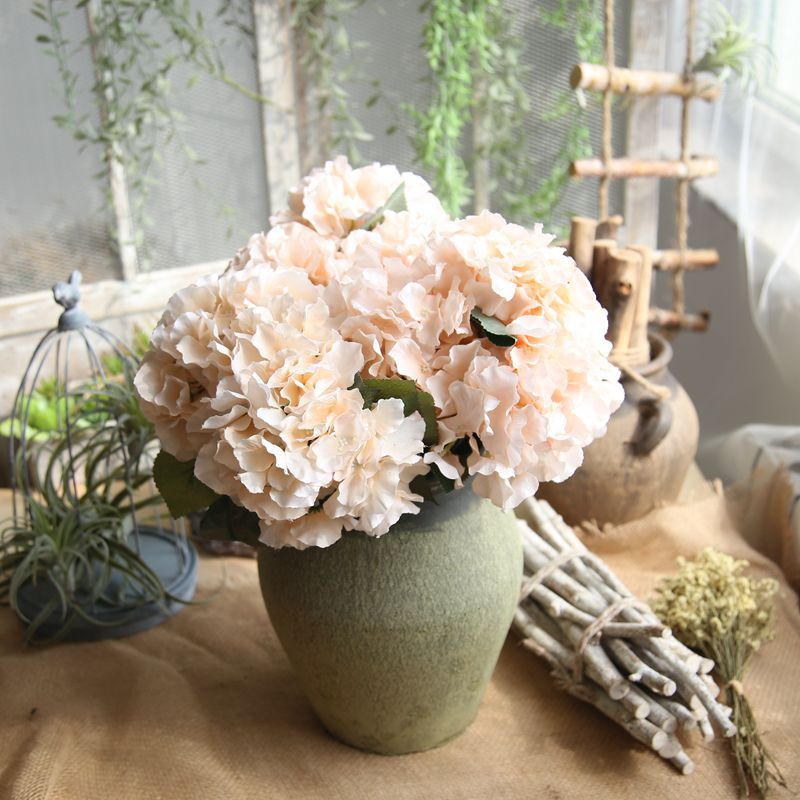 Konstgjorda Hortensia Blommor Bouquet 5 Branches / Bunch Fake Flowers - Semester och fester - Foto 1