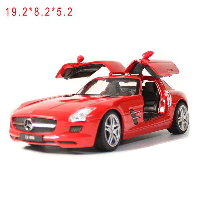 Envío libre modelo diecast coche deportivo 1:24 sls genuina modelos de simulación de aleación amg toys regalo de coche para niños