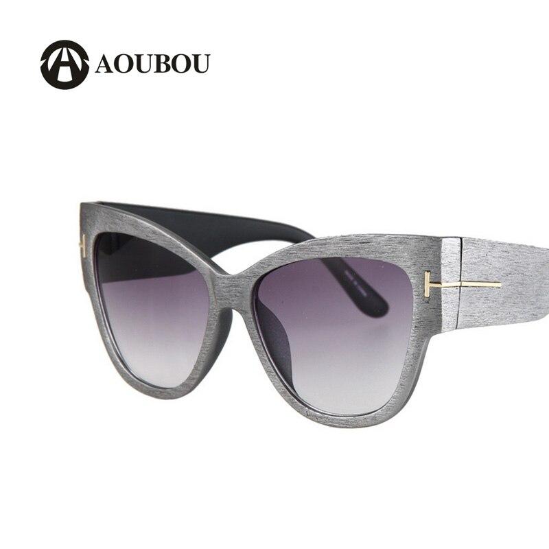 Wood Sunglasses Women 2019 Osobnost Street Style Šedá Cateye Sluneční sklo High Lentes De Sol Para Mujer Grandes Marcas 6156