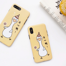 Fashion Yellow Soft Tpu Silicone Cartoon Pattern Duck Pone Case For iphone 7 8 6 6s Plus x Xs Nax Cover New Arrival 2019