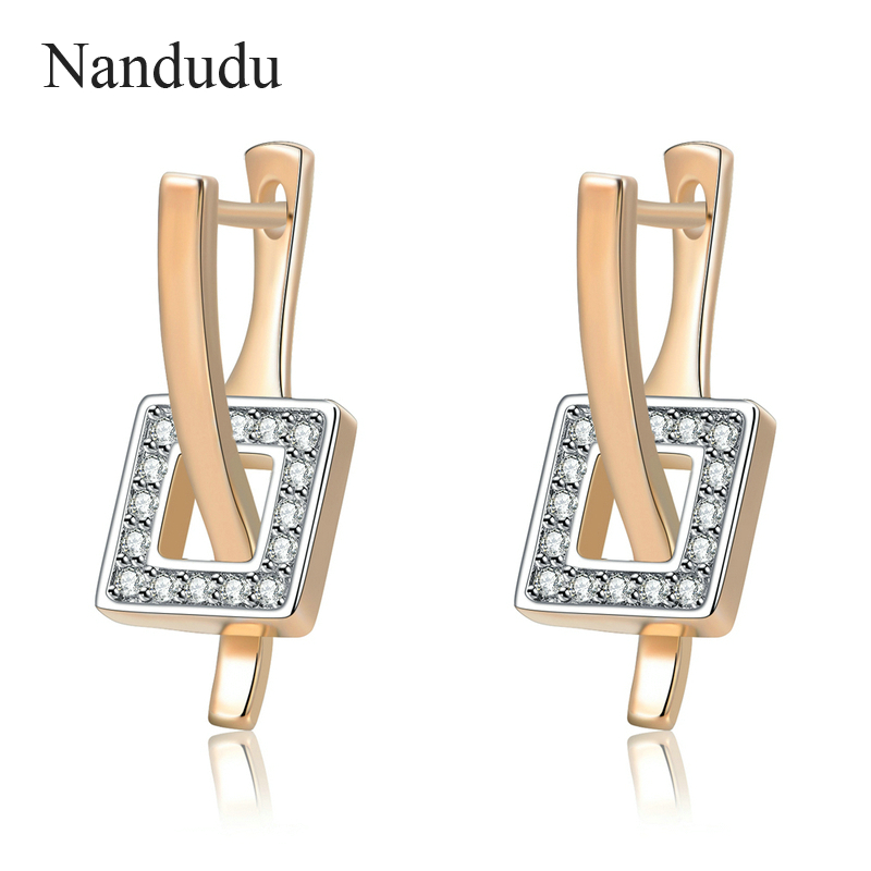 Nandudu Special Design Stud Earrings with Austrian Crystal Small and Exquisite Women Earring Gift Accessory CE230