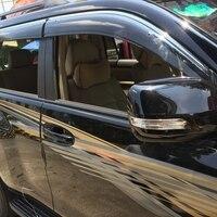 Fit For Toyota Prado FJ150 FJ 150 2010 2016 4pcs Rain Sun Visor Window Shield Plastic