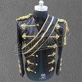 2016 nova moda masculina jaqueta dos homens trajes de Dança roupas de palco mj traje militar para o dançarino desempenho cantor bar boate