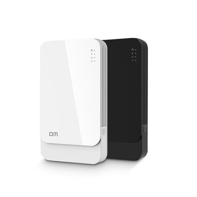Dm wfd027 wi-fi sem fio portable hard disk drive enclosure usb3.0 para SATA para 2.5 polegada HDD SSD Preto/Branco Cor Da Moda projeto