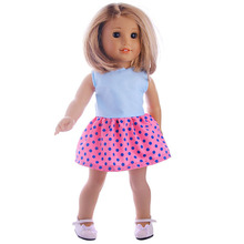 Cute princess dress, suitable for 18inch American girl doll, suitable for 43cm zapf doll, best dress for banquet