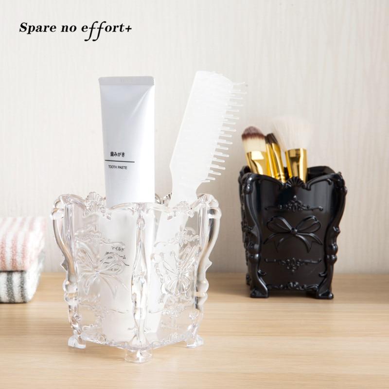 Office Home Makeup Brush Storage Box Organizer Cosmetic Tools Pencil Pen Holder Makeup Brush Holder Organizador De Maquiagem