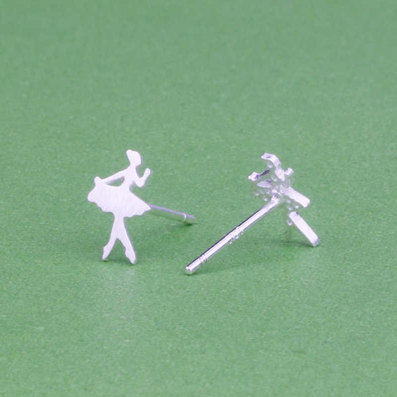 Pendientes pequeños con tachuela para niñas pendientes De plata bonitos para mujeres niños Aretes De Mujer Modernos 2019 Simple joyería minimalista