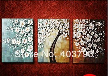 moder fashion oil paintings on canvas flower tree for living room bedroom decoration free shipping