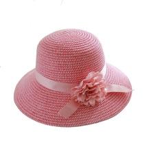 Elegant Sunhat Summer Flower Straw Hat Women's Bucket Hat Girls Beach Cap Sun Hat for Lady Travel Hat Bone Chapeu Feminino