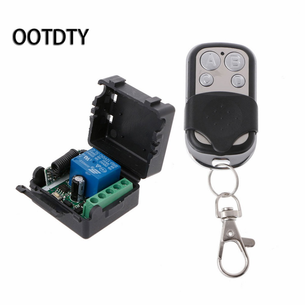 Wireless Remote Control Switch DC12V 10A 1CH Relay Receiver Module + Transmitter 315mhz wireless relay module switch remote control switch 9v 12v 24v 1ch 10a receiver wall transmitter for light gate motor