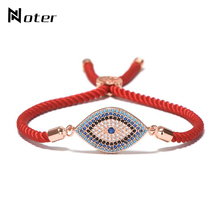 Trendy Evil Eyes Bracelets For Women Men Handmade Braided Red Thread B