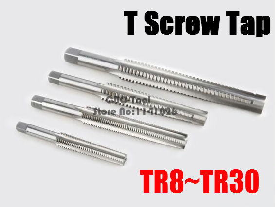 1PCS TR8 TR10 TR12 TR14 TR16 TR18 TR20 TR22 TR24 T25 TR26*2/3/4/5 Trapezoidal HSS Right Left Hand Thread Tap.T Type Screw Thread