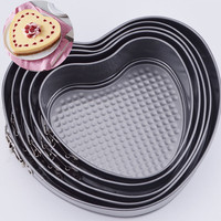 Heart Shaped Removable Bottom Cake Pan Set with Spring Latch Mold Leakproof Cake Baking Mould Bakeware Cake Decorating Tools