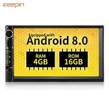 ZEEPIN WH7109 игрок автомобиля Android 8,0 Штатная приемник 7-дюймовый Видео Аудио Стерео Bluetooth плеер gps OBD Функция