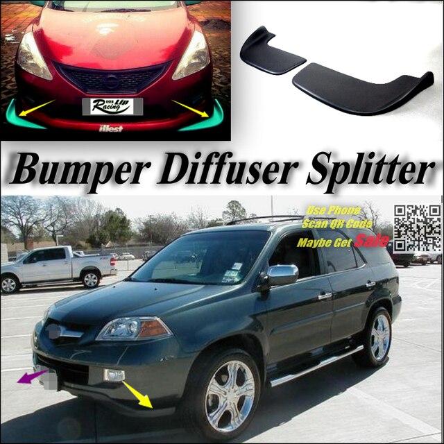 Car Splitter Diffuser Per Canard Lip For Acura Mdx Tuning Body Kit Front Deflector