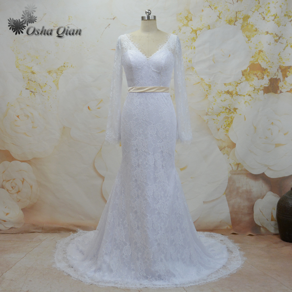 Shop Online China White Full Lace Wedding Dress Mermaid