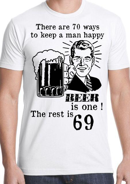 2018 Musim Panas Katun Tee Kemeja Lucu T Shirt Beer Man Sex Humor Joke Hadiah