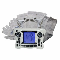 308B Electrical Tens Stimulator Digital Therapy Massager Body Knee Pain Relief With Conducitive Set Glove Sock And Kneepad