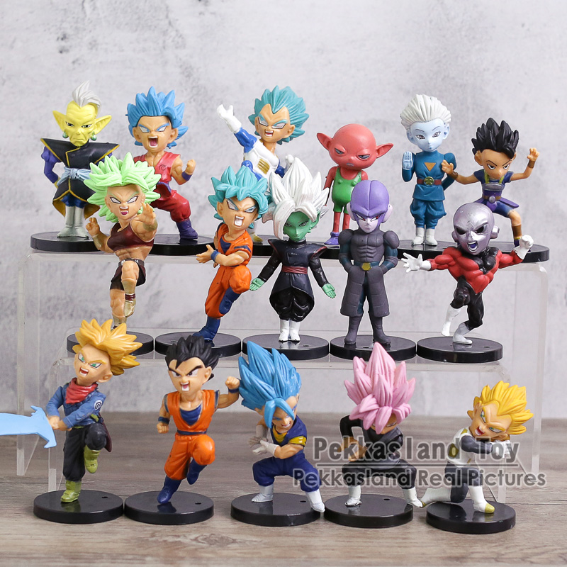 Dragon Ball Super Figures Toys Super Saiyan Son Goku Trunks Vegeta Jiren Kale Grand Priest Zamasu Monaka Hit Cabba 16pcs/setDragon Ball Super Figures Toys Super Saiyan Son Goku Trunks Vegeta Jiren Kale Grand Priest Zamasu Monaka Hit Cabba 16pcs/set