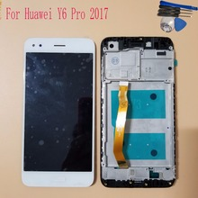 With Frame 5.0'' For Huawei Y6 Pro 2017 SLA-L02 SLA-L22 SLA-TL00 LCD Display Touch Screen Digitizer Assembly Replace LCD Screen quying laptop lcd screen compatible model lp121wx3 tla1 tla2 ltn121at06 g01 l02 h01 b121ew09 v 2 v 3 n121ib l06