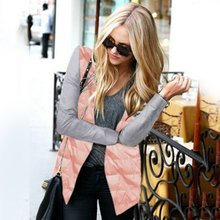 Winter Fashion Parkas Jacket Women Coat Cool Basic Cotton jacket Patch Irregular Zipper Outwear
